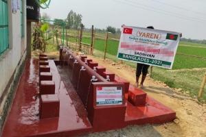 Bangladeş'te 4 adet Şadırvan ve 2 adet su kuyusu daha hizmete başladı.