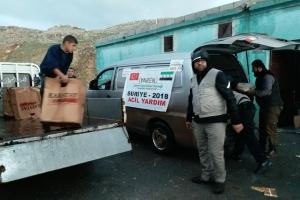 Suriye kamplarında yardımlarımız devam ediyor