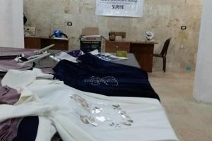 İdlib'te Terzi Atölyesi Kurduk