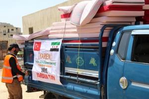 DOĞU GUTA ve DUMA'dan tehcir edilen ailelere yardımlarımız devam ediyor