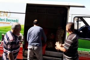 İhtiyaç Sahibi Suriyeli Mültecilere Dağıtımlar Devam Ediyor
