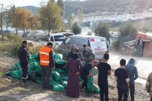 İdlib, Cısr ve Türkmen Dağı Çevresinde Kömür ve Su Dağıtımı Başladı