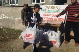 Osmaniye Çadır Kentte Ailelere Yardım