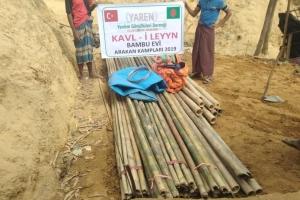 Yemen'de Su Dağıtımı, Arakan Kamplarında Bambu Ev Yapımı Devam Ediyor...