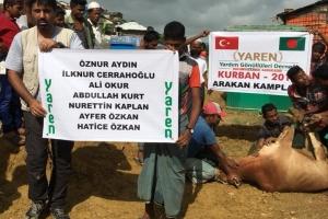 Arakan Kamplarında Kurban kesimi tamamlanmıştır