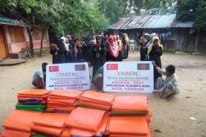 ARAKAN Kamplarına Çadır Yardımlarımız Devam Ediyor