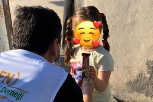 Hatay'da İhtiyaç Sahibi Ailelere Kumanya Dağıtımı Gerçekleştirildi.