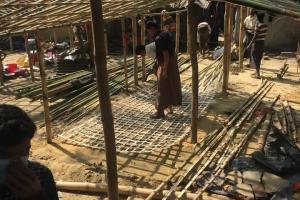 Arakan´lı Kardeşlerimiz İçin Bambu Ev Yapıldı