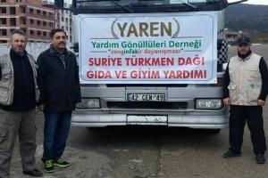 Suriye Türkmen Bölgesine 2 Tır Gıda ve Giysi Yardımı Yapıldı