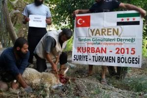 Suriye Türkmen Bölgesinde Kurbanlar Kesildi