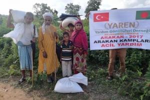 ARAKAN´da ki Zulümden Kaçan Ailelere Yardım