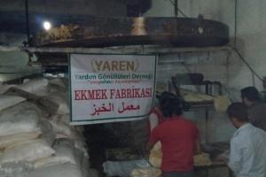 İdlib'te Ekmek Fabrikası Açılmıştır