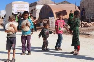 Suriye Sınır Kamplarında Her Gün 3 Bin Aileye Ekmek Dağıtımımız Devam Etmektedir