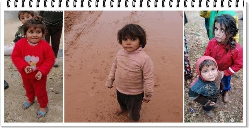 Hani siz üşüyorsunuz ya, Mevsimin suçu yok... Suriye'de kışlık kıyafet ve yakacak yardımlarımız desteklerinizi bekliyor