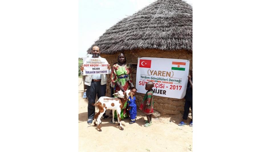 Nijer'de 38 Aileye Süt Keçisi Dağıtımı Yapıldı