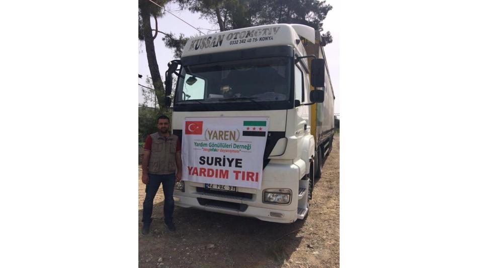 Suriye'deki Mazlumlara 4 Tır Yardım Malzemesi Gönderildi